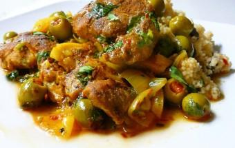 Tajine marocain de poulet et olives