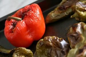 Préparation de poivrons pour le hmiss