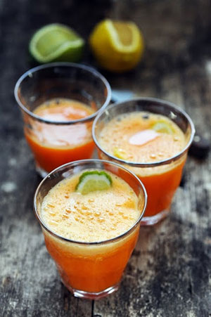 smoothie orange gingembre carotte