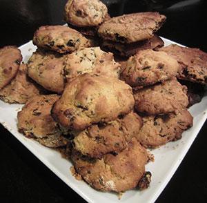 recette de cookies aux raisins secs