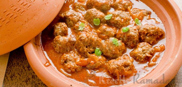 Tajine boulettes de kefta à la marocaine