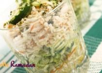 Verrines courgettes surimi