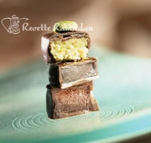 Chocolat fourré à la pâte d'amande