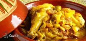 tajine de poulet olive et citron confit