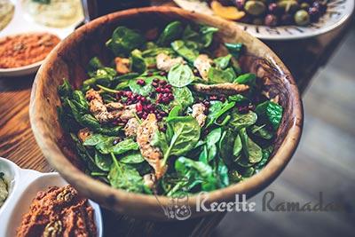 salade épinard poulet