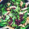 Salade santé épinard poulet grenade