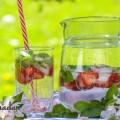 Mojito à la fraise sans alcool