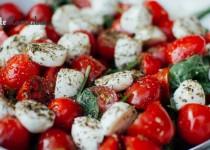 Salade tomates cerise & mozzarella