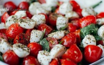 Salade de tomates cerises et mozzarella