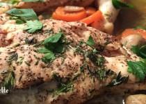 Sauté de poulet aux carottes et champignons