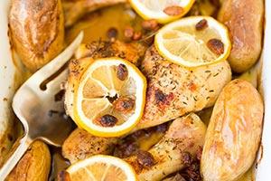 poulet roti citron