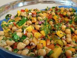 salade pois chiche fraicheur