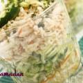 verrine de courgette et surimi