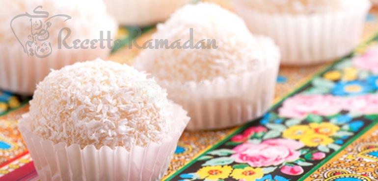 Truffe noix de coco et chocholat blanc
