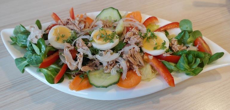 salade thon legume